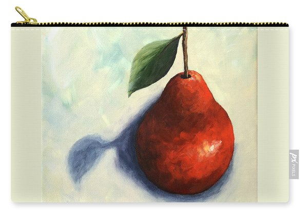 Red Pear In The Spotlight Carry-all Pouch