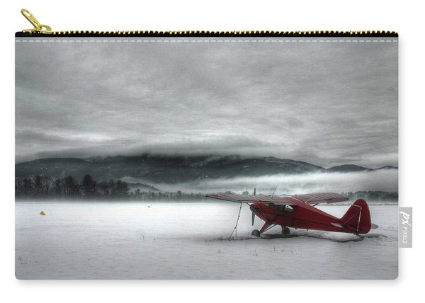 Red Plane In A Monochrome World Carry-all Pouch