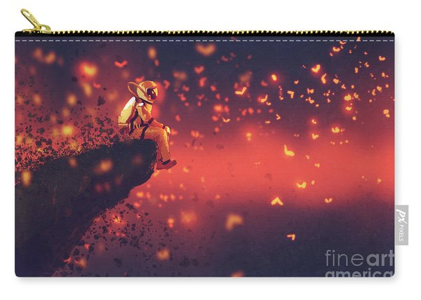 Carry-all Pouch featuring the painting Red Planet by Tithi Luadthong