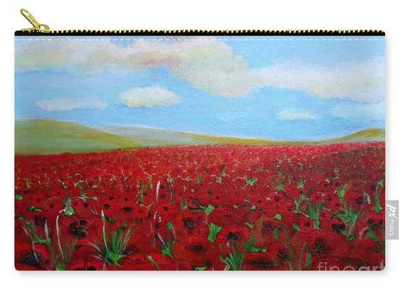 Red Poppies In Remembrance Carry-all Pouch