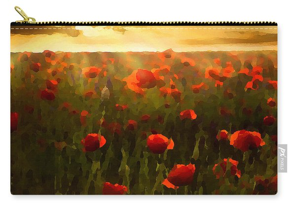 Red Poppies In The Sun Carry-all Pouch