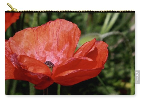 Red Poppy Carry-all Pouch