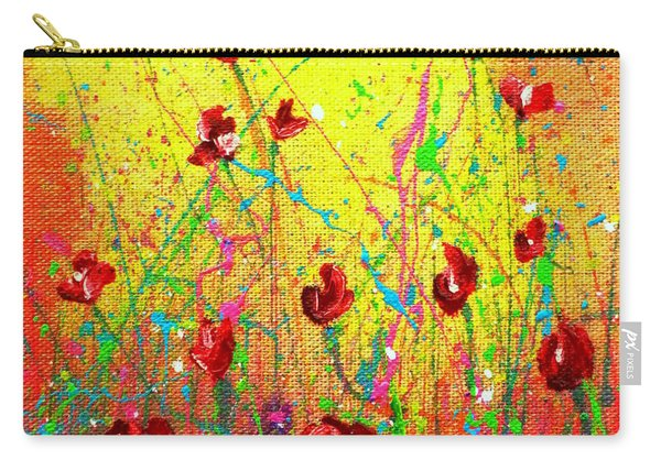 Red Posies Carry-all Pouch