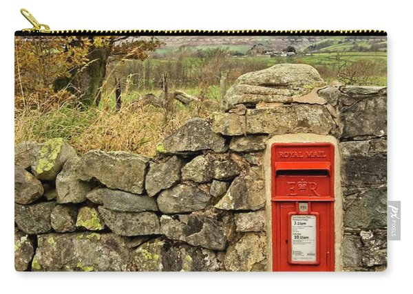 Red Postbox Down A Country Lane Carry-all Pouch
