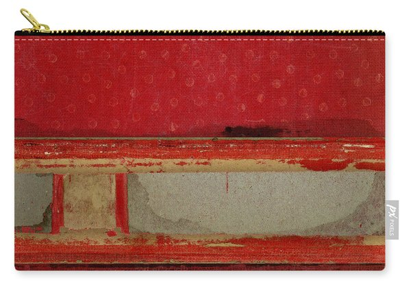 Red Riley Collage Square 3 Carry-all Pouch