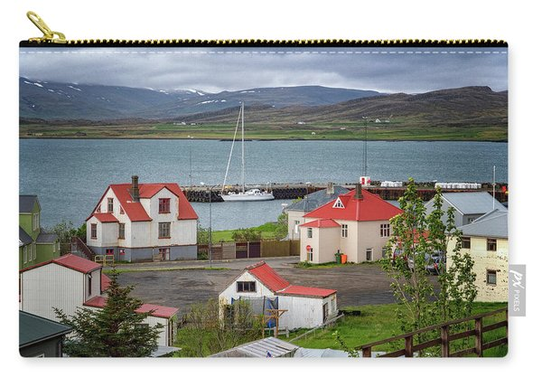 Red Roofs Of Holmavik Carry-all Pouch
