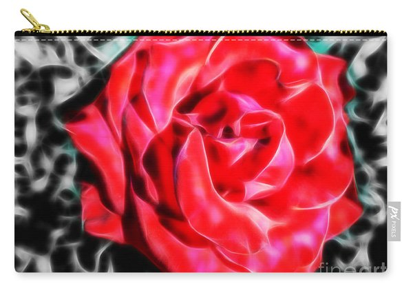 Red Rose Fractal Carry-all Pouch