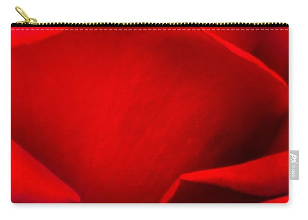 Red Rose Petals Carry-all Pouch