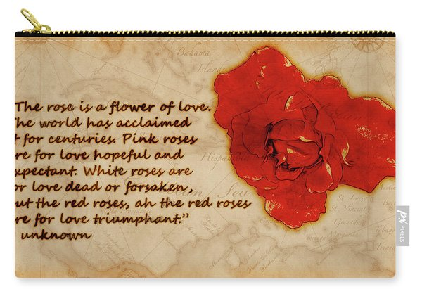 Red Rose Significance Carry-all Pouch