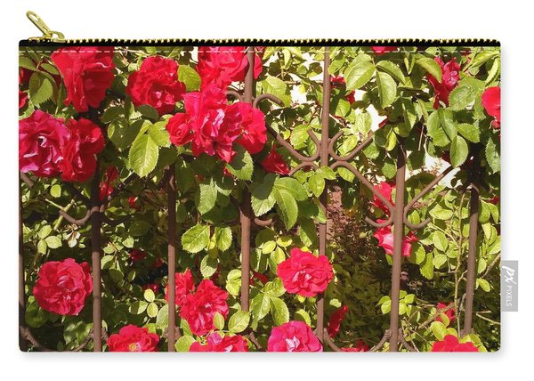 Red Roses In Summertime Carry-all Pouch