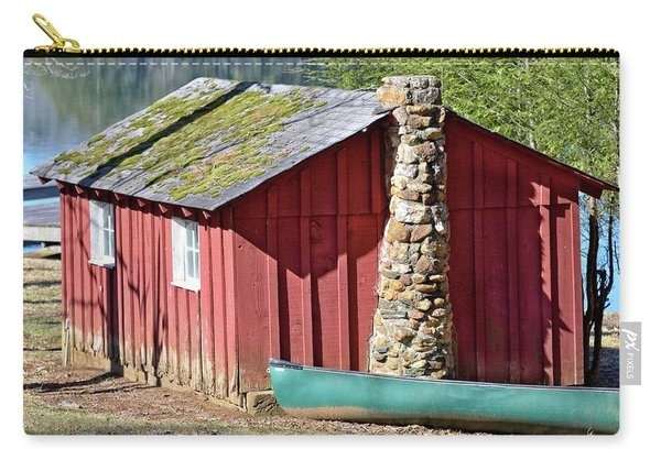 Red Shed And Canoe Carry-all Pouch