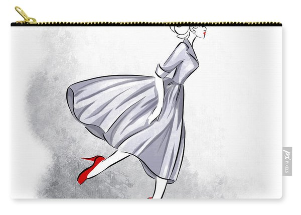 Red Shoes Red Lips Carry-all Pouch