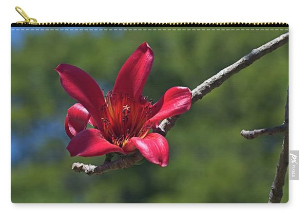 Red Silk Blossom Carry-all Pouch