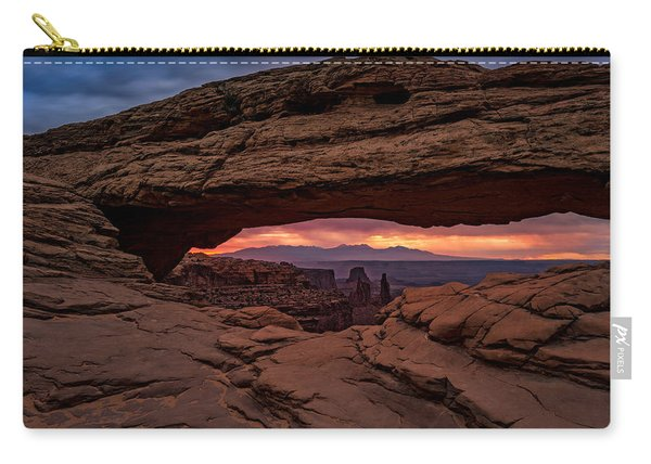 Red Skies At Mesa Arch Carry-all Pouch