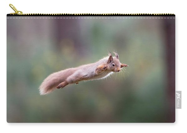 Red Squirrel Leaping Carry-all Pouch