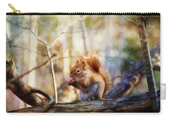 Red Squirrel With Pinecone Carry-all Pouch