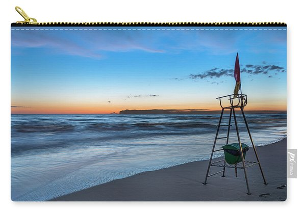 Red Sun In The Sunset Beach - Spiaggia Al Tramonto Carry-all Pouch