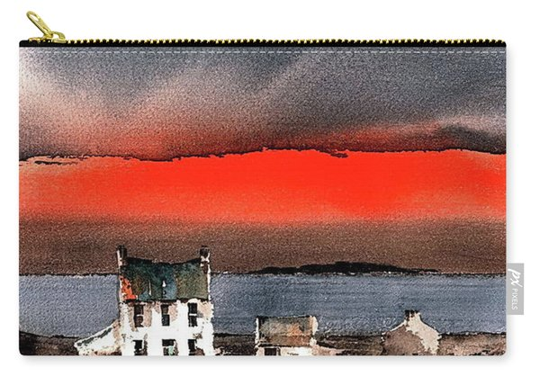Red Sunset On Bungowla, Aran, Galway Carry-all Pouch