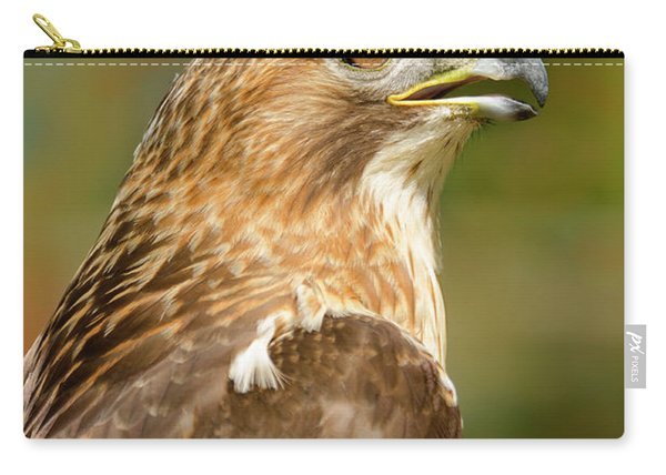 Red-tailed Hawk Close-up Carry-all Pouch