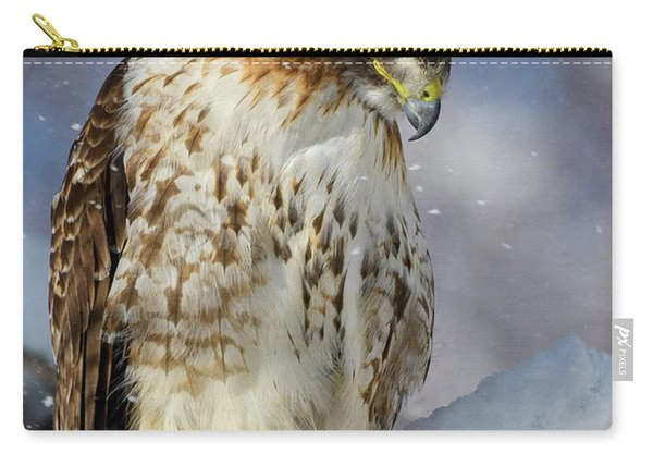 Red Tailed Hawk, Glamour Pose Carry-all Pouch