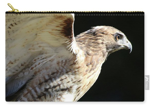 Red-tailed Hawk In Profile Carry-all Pouch