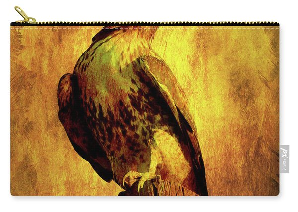 Red Tailed Hawk . Texture . 40d10167 Carry-all Pouch