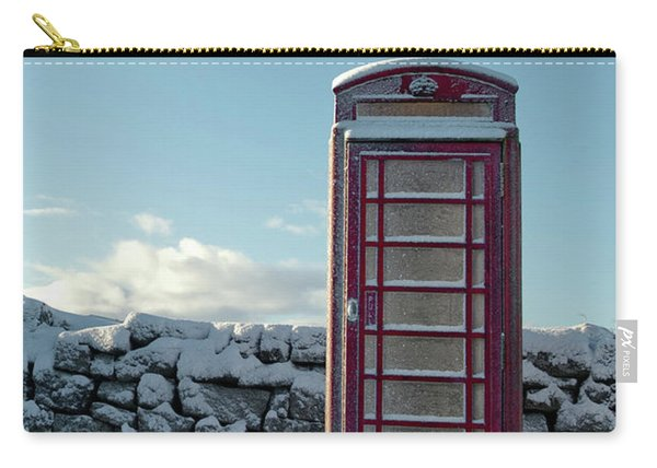 Red Telephone Box In The Snow IIi Carry-all Pouch