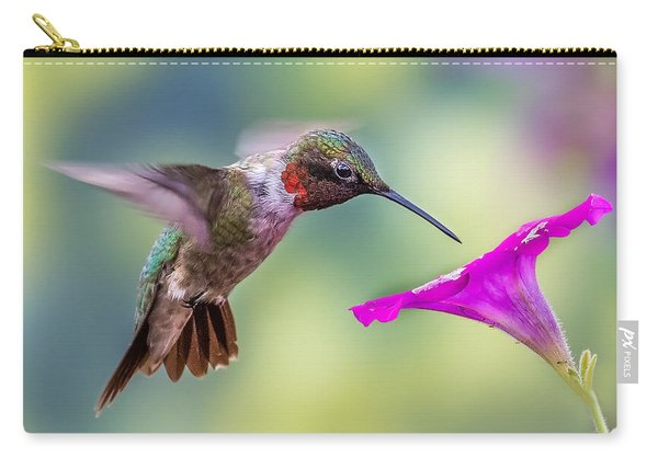Carry-all Pouch featuring the photograph Red Throated Hummingbird by Allin Sorenson