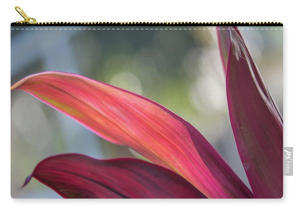 Red Ti Leaves 02 Carry-all Pouch