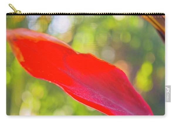 Red Ti Leaves 08 Carry-all Pouch