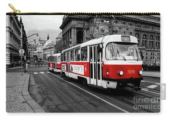 Prague - Red Tram Carry-all Pouch