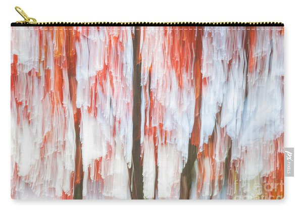 Red Trees On Lake Shore Carry-all Pouch