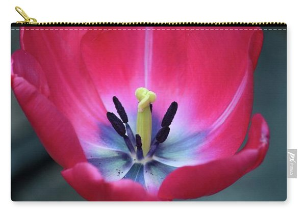 Red Tulip Blossom With Stamen And Petals And Pistil Carry-all Pouch