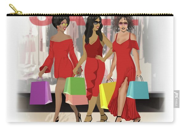 Red Walking Carry-all Pouch