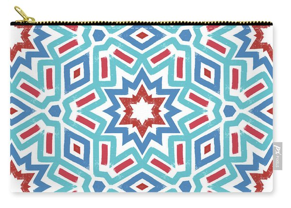 Red White And Blue Fireworks Pattern- Art By Linda Woods Carry-all Pouch