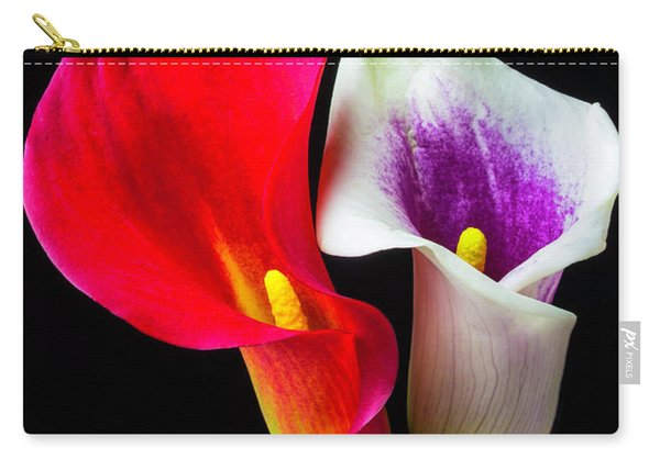 Red White And Purple Calla Lilies Carry-all Pouch