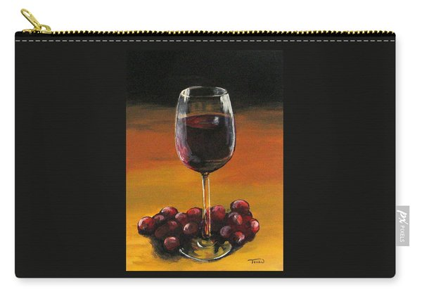 Red Wine And Red Grapes Carry-all Pouch
