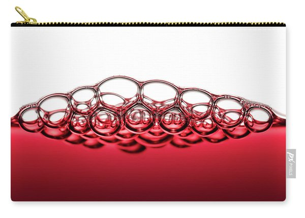 Red Wine Bubbles Carry-all Pouch