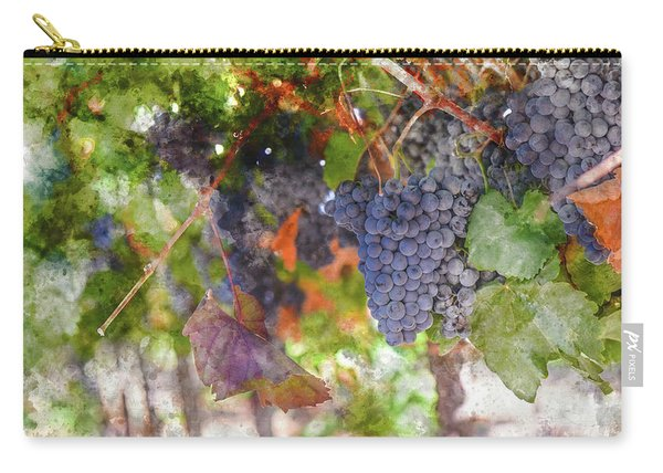 Red Wine Grapes On The Vine In Wine Country Carry-all Pouch
