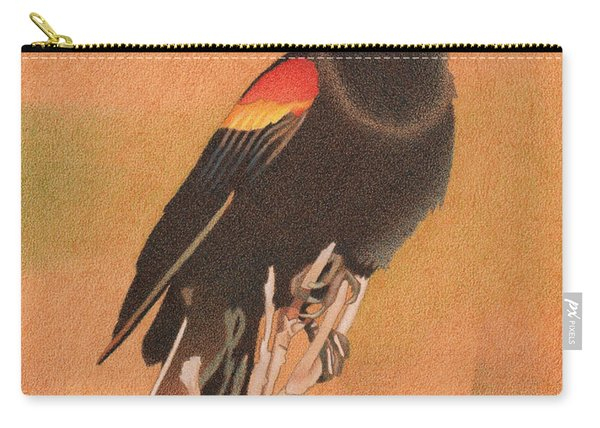 Red-winged Blackbird 3 Carry-all Pouch