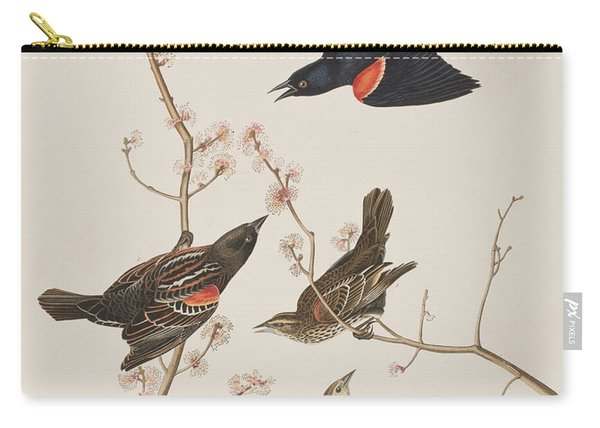Red Winged Starling Or Marsh Blackbird Carry-all Pouch