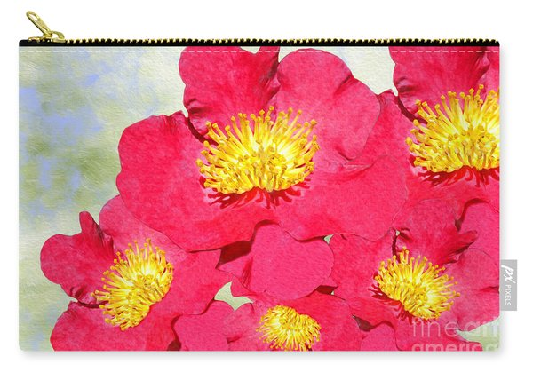 Red Yuletide Camellia Carry-all Pouch