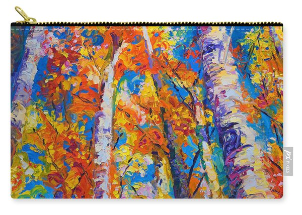 Redemption - Fall Birch And Aspen Carry-all Pouch