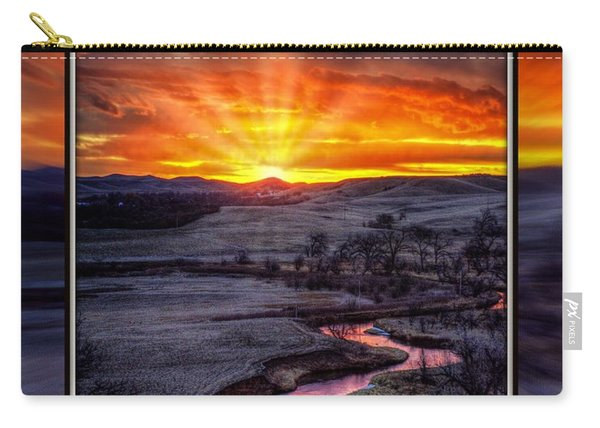Redwater River Sunrise Carry-all Pouch
