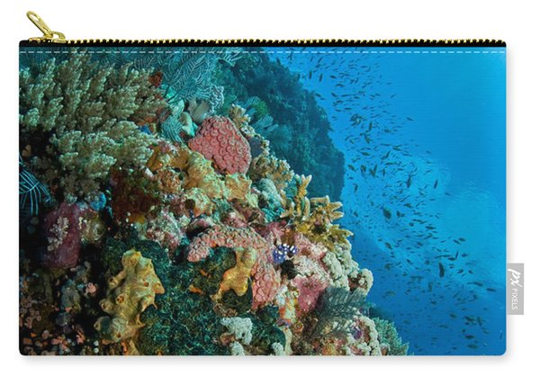 Reef Scene With Corals And Fish Carry-all Pouch