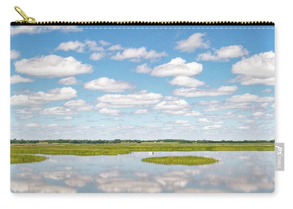 Carry-all Pouch featuring the photograph Reflected Clouds - 01 by Rob Graham