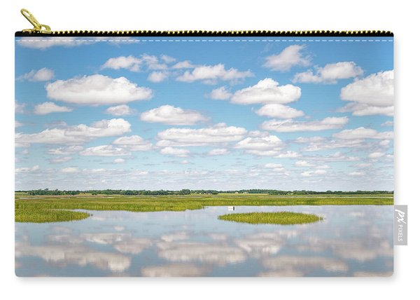 Carry-all Pouch featuring the photograph Reflected Clouds - 02 by Rob Graham