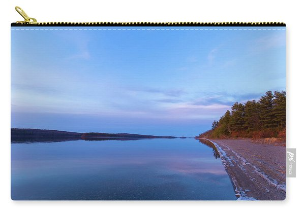 Carry-all Pouch featuring the photograph Reflecting At The Reservoir by Brian Hale