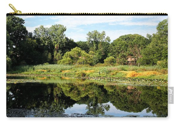 Carry-all Pouch featuring the photograph Reflecting On A Summer Morning by William Selander