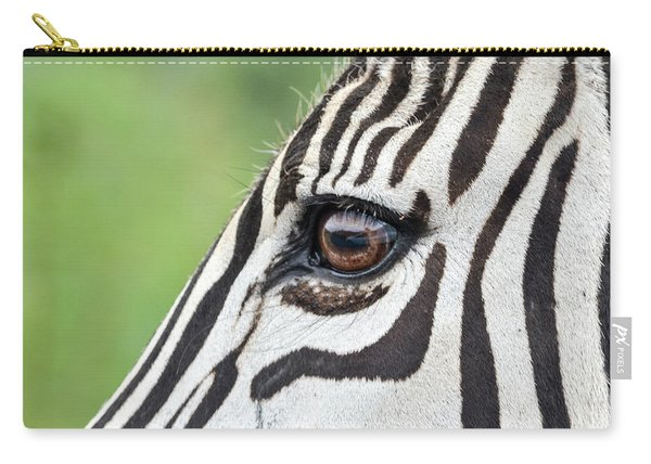 Reflection In A Zebra Eye Carry-all Pouch